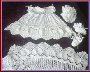 Irish Crochet Christening Set - e-Patterns, Downloadable Patterns