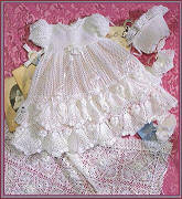 Heirloom Rose Christening Set Designed by Delsie Rhoades