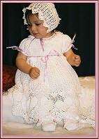 Crochet Sweet Heart Christening Set Designed by Delsie Rhoades