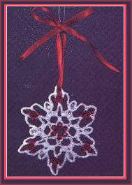 free crochet beaded red ruby snowflake patterns