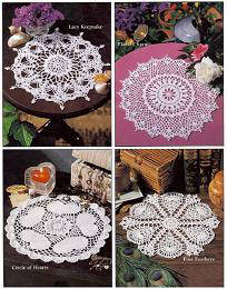 Crochet Pretty Doilies Designed by Delsie Rhoades