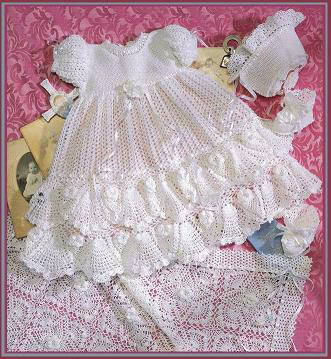 CHRISTENING CROCHET PATTERN SET Crochet Patterns