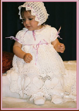 Sweet Heart Christening Dress Designed by Delsie Rhoades