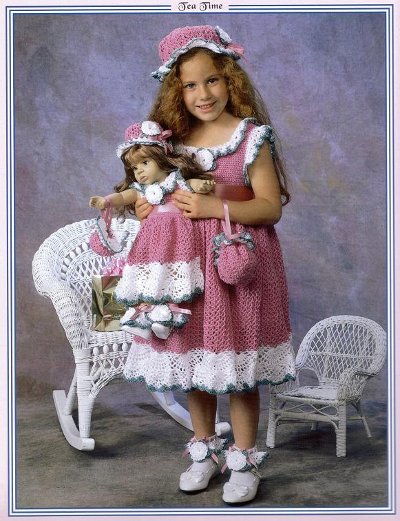 Вязание платьев для девочек бесплатно